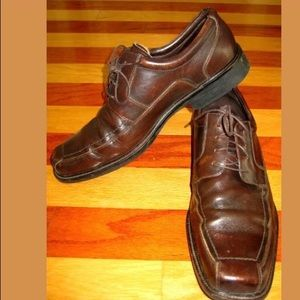 JOHNSTON & MURPHY BROWN LEATHER GAMBRILL SHOES 12